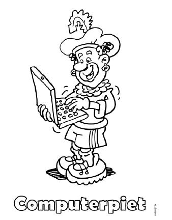 Kleurplaten Zwarte Piet Hoofd.Sinterklaas Juffrouw Femke